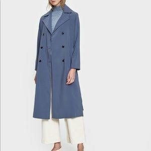 Stelen light blue trench coat with belt